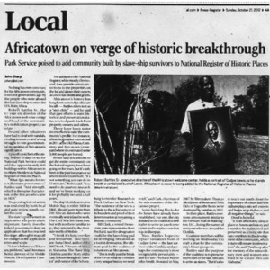 Africatown on verge of historic breakthrough Oct. 21 2012 Press-Register 4A.pdf