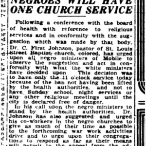 3 Nov . Negroes on church service 1918 p14A Mobile Register.pdf
