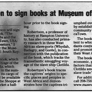 Robertson to sign books at Museum of Mobile Aug. 5 2008 Press-Register 3D.pdf