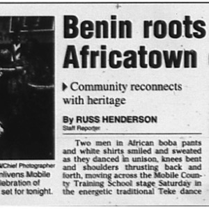 Benin roots mix with Africatown cuisine Nov. 10 2002 Mobile Register 1B, 3B.pdf