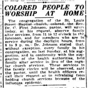 27 Oct . Worshiping at home 1918 p1 Mobile REgister.pdf