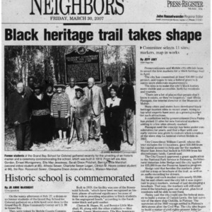 Black heritage trail takes shape Mar. 30 2007 Mobile County Neighbors 1, 6.pdf