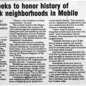 Council seeks to honor history of more black neighborhoods in Mobile Sept. 22 2009 Press-Register 1B Final.pdf