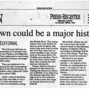 Africatown could be a major historic site Feb. 8 2011 Press-Register 5A.pdf