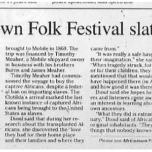 25th Original Africatown Folk Festival slated for this weekend Mar. 14 2007 Press-Register 1B, 6B.pdf