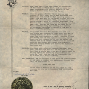 Miss Emma Day Proclamation