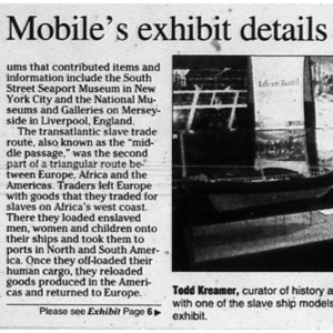 Museum of Mobile's exhibit details slave trade Aug. 5 2007 Mobile County Neighbors 1, 6.pdf