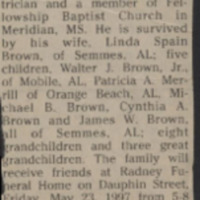 Brown, Walter Jack