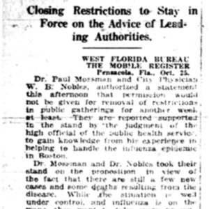 26 Oct . P'cola keeps restrictions 1918 p6 Mobile Register.pdf