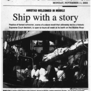 Amistad Welcomed in Mobile Nov. 11 2002 1A, 4A.pdf