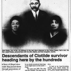 Descendants of Clotilde survivor heading here by the hundreds Aug. 13 1998 Mobile Register 1A, 13A.pdf