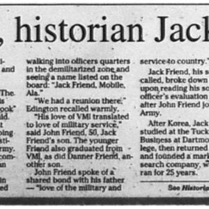 Businessman, historian Jack Friend dies Nov. 13 2010 Press-Register 1C, 3C.pdf