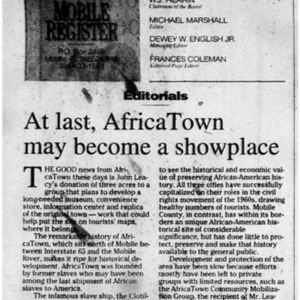 At last, AfricaTown may become a showplace 31 May 2000 8A Mobile Register.pdf