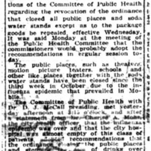 5 Nov . City to act on closures 1918 p1 Mobile Register.pdf