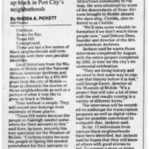 Local historians to chronical life in black Mobile 29 Apr. 1999 4B Mobile Register.pdf