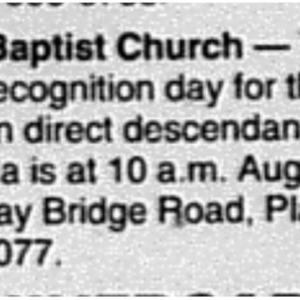 Religion Bulletin Special Services Union Baptist Church Aug. 11 2007 Press-Register 5D.pdf