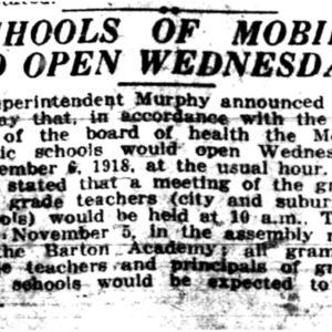 5 Nov . Mobile schools to open 1918 p1 Mobile Register.pdf