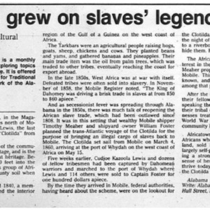 Africatown grew on slaves' legends and lore 25 July 1993 Mobile Register 2G.pdf