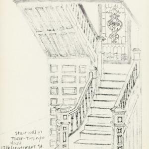 Stairwell . Tacon Tissington House 1901 . Harrison.jpg