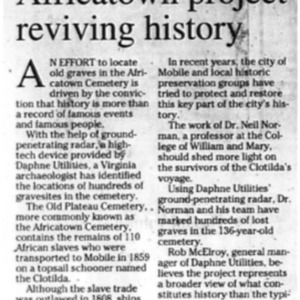Africatown project reviving history Jan. 23 2010 Press-Register 6A.pdf