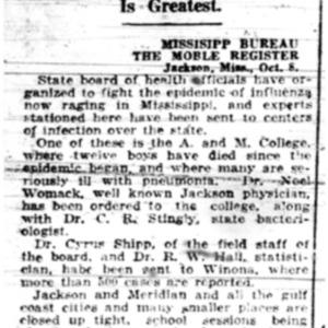 9 Oct . Mississippi combats flu 1918 p9 Mobile Register.pdf