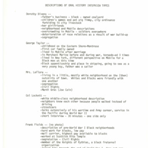 Descriptions of Oral History Interview Tapes.pdf