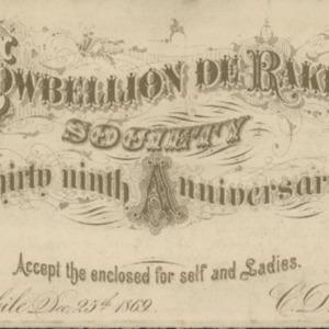 Cowbellion de Rakin Society 1869