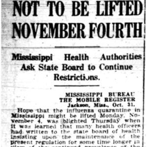 1 Nov . No lifting of MS quarantine 1918 p10 Mobile Register.pdf