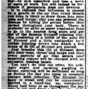 1 Nov . Van Antwerp flu ad 1918 p19 Mobile Register.pdf