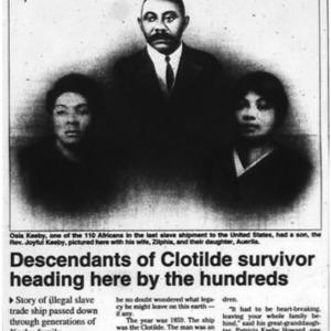 Descendants of Clotilde survivor heading here by the hundreds Aug. 13 1998 Mobile Register 1A, 13A.pdf